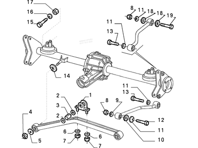 15888724 Alfa Romeo 75  6 Cyl.  Screw Drive Shaft (Drawing Nr.25)  and 105 / 115 strive rear axle (Drawing Nr. 13)